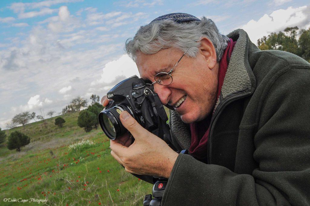 Jerusalem and Israel photographer Yehoshua Halevi at work.