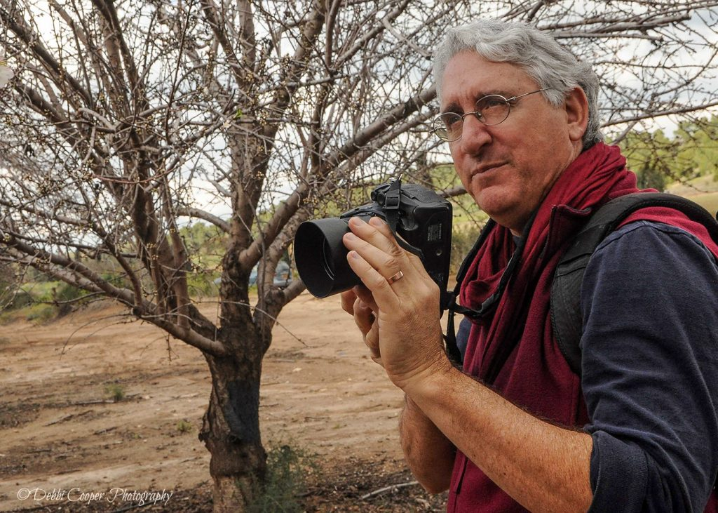 Jerusalem and Israel professional photographer Yehoshua Halevi at work during an Israel photography tour.